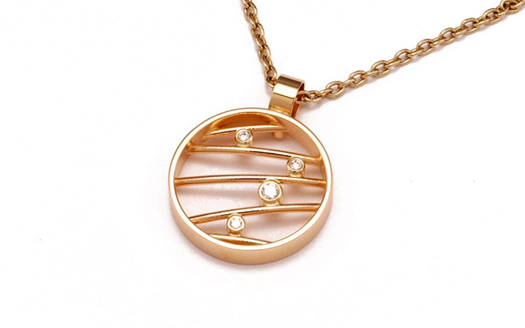 1590N - 14 karat gold pendant with .11cttw. Diamonds (3.9g) Price Upon Request